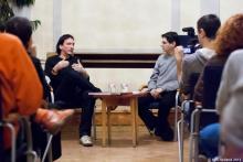 A beszélgetők: Eszenyi M. Bence és Hanzli Péter